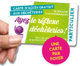 Badge d'accès aux déchèteries