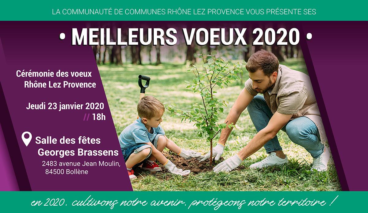 Cérémonie des voeux de l'interco - Jeudi 23 janvier 2020 à 18h Salle Georges Brassens à Bollène