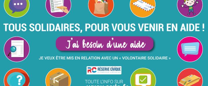 Initiative « Solidarités citoyennes » : Tous solidaires pour vous venir en aide !