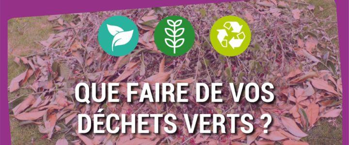 Que faire de vos déchets verts ?
