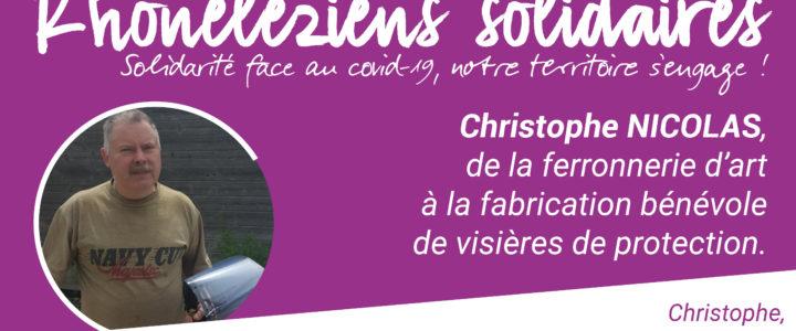 Rhoneléziens Solidaires : Christophe Nicolas, un artisan au grand cœur