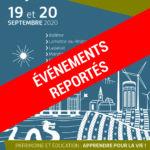 LES MANIFESTATIONS ORGANISEES POUR LES JOURNEES EUROPEENNES DU PATRIMOINE DOIVENT ETRE REPORTEES