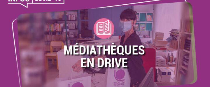 INFO Covid – les médiathèques intercommunales ouvertes en drive