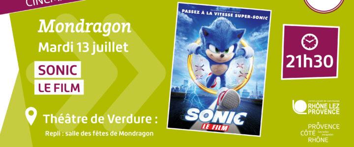 """Cinéma de plein air """"Sonic le film"""" – mardi 19 juillet"""