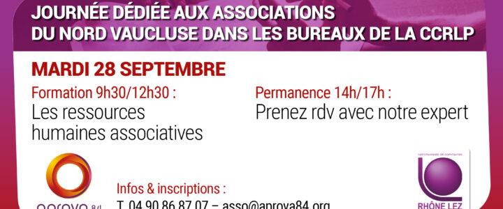 Journée d'information et de conseil pour les associations le 28 septembre prochain – APROVA